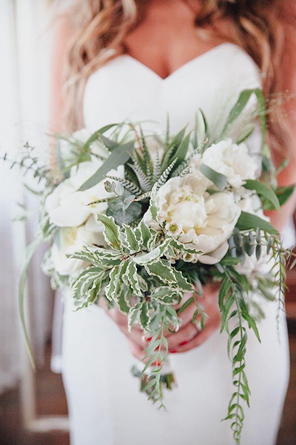 Favorite Bridal Bouquet (floral design by Precious and Blooming and photo by Marble Rye Photography via Ruffled)