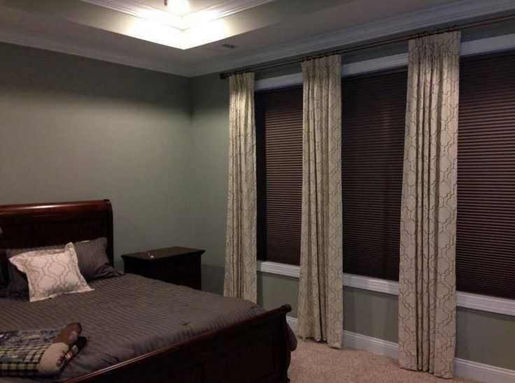 Black Out Cellular Shades With Decorative Drapery Panels