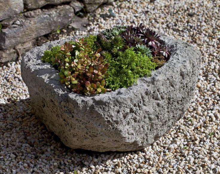 Round Rustic Cast Stone Trough Made By Campania International