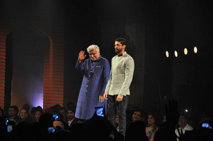 #Javed Akhtar with #his son Farhan Akhtar