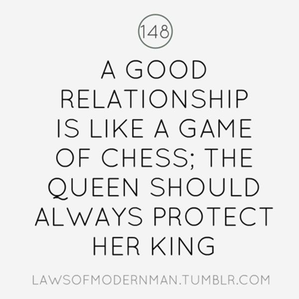 Quote: A good relationship is like a game of chess; the