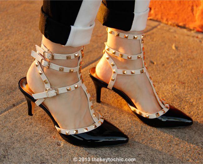 Valentino Rockstud T-strap look alike heels, Valentino Rockstud look for less
