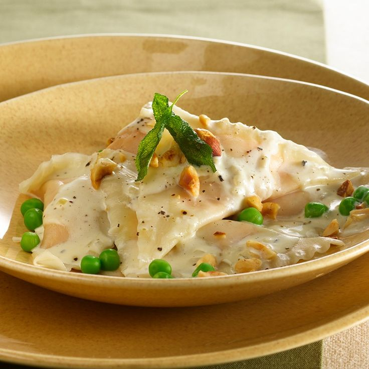 ... this butternut squash ravioli with a rich whiskey-sage cream sauce