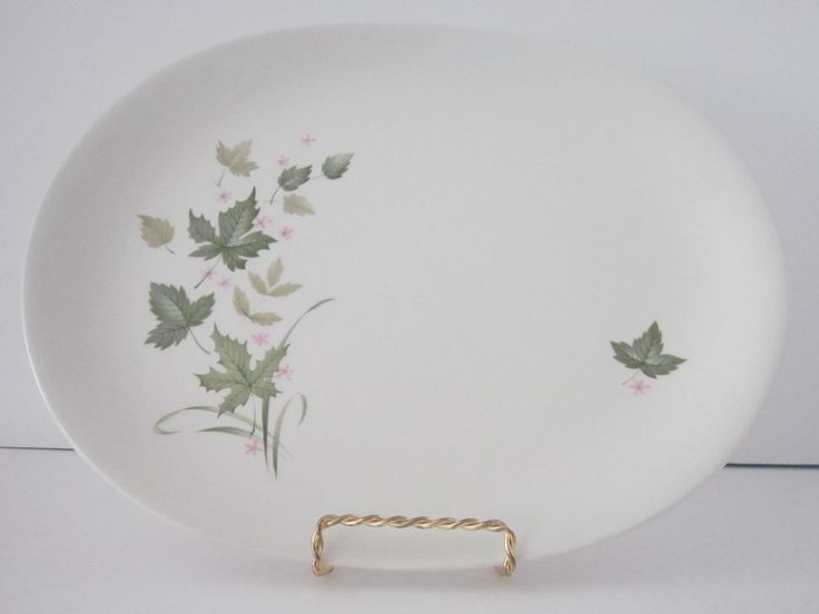 VTG Johnson Bros England Ironstone Snowhite Ivy Leaves JB944 Serving Platter #JohnsonBros