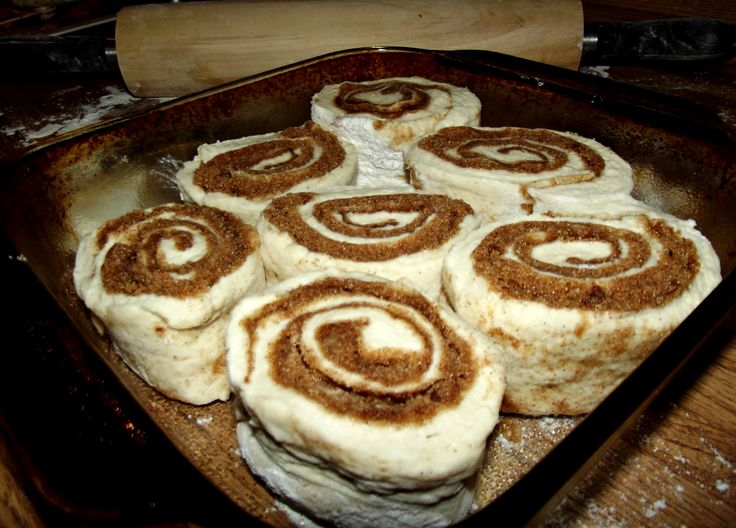 Quick and Easy Homemade Cinnamon Rolls with No Yeast  |  NOTE:  These are delicious!  I made them for Easter brunch and they turned out great.
