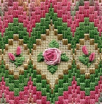 Two-Handed Stitcher: Bargello and Roses