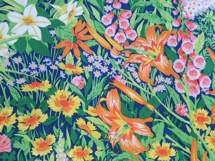 RARE! vtg Martex TWIN FLAT Sheet Green Tropical Floral retro 70s Multi-Color  #Martex #Modern