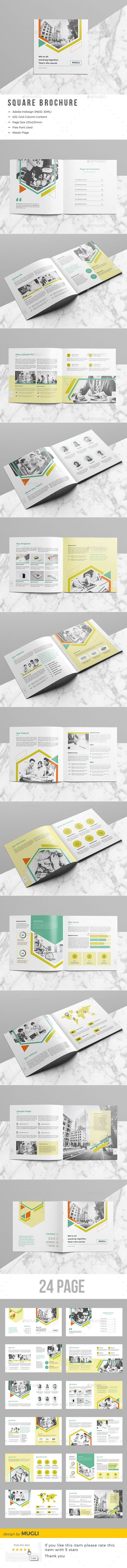Square Brochure — InDesign INDD #review #agency • Download ➝ https://graphicriver.net/item/square-brochure/19638650?ref=pxcr