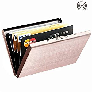 Amazon.com : Best RFID Blocking Credit Card Holder, MaxGearTM Stainless Steel Card Holder Case for Travel and Work, Steel Metal Slim Wallet, Credit Card Case for Business Cards, Credit Cards, and Driver License : Office Products