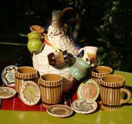 Set serviciu ceramic `Infratirea`, 22 piese