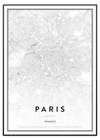 Poster Store - Paris Karta Tavla