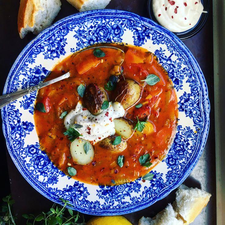 Vegansk bouillabaisse med bönaioli och rostad potatis | Tuvessonskan | Bloglovin'