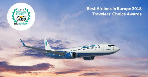 TripAdvisor: Blue Air Among Europe's Best Low-cost Airlines for 2018