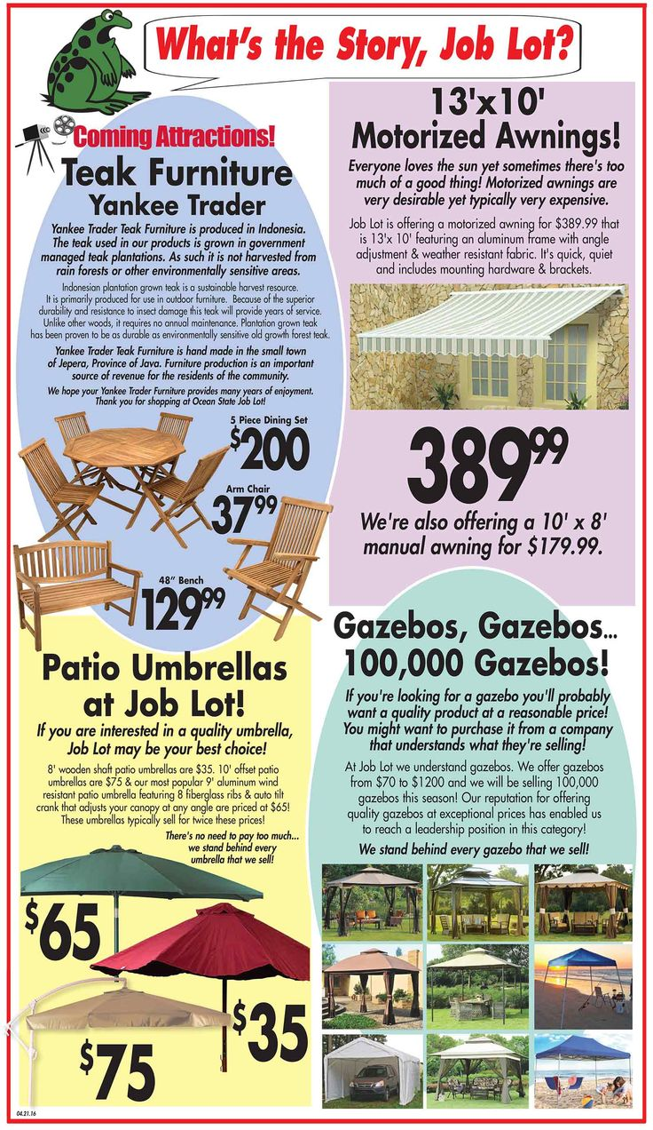 The April 21st What's the Story is all about your outdoor spaces. We've.  Teak FurniturePatio ... - 26 Best Whats The Story Images On Pinterest