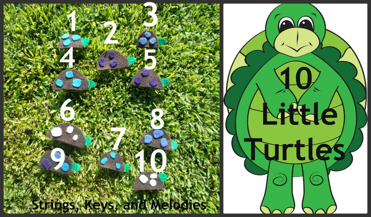 Finger Play Fun Day:  10 Little Turtles: Felt Turtles, Play Filled Learning, Fingers, Katie Finger, Play Songs, Finger Plays, Preschool Fingerplays Songs, Finger Puppets