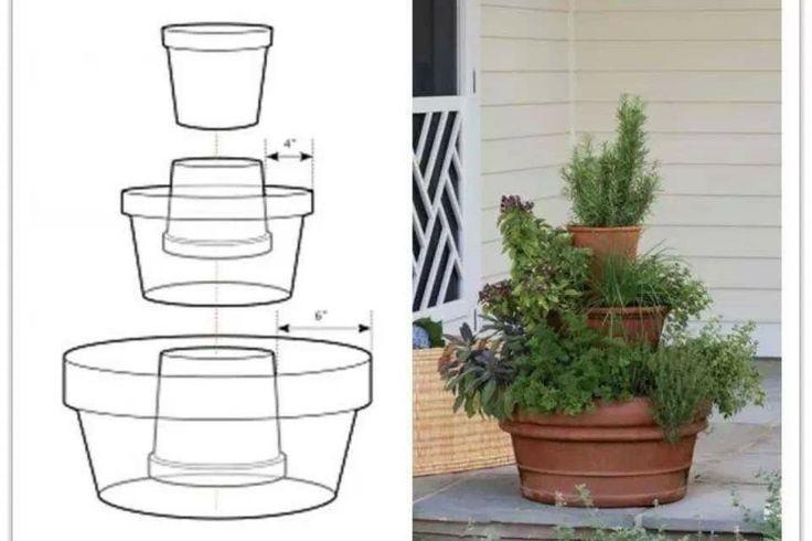 Mini herb garden tower