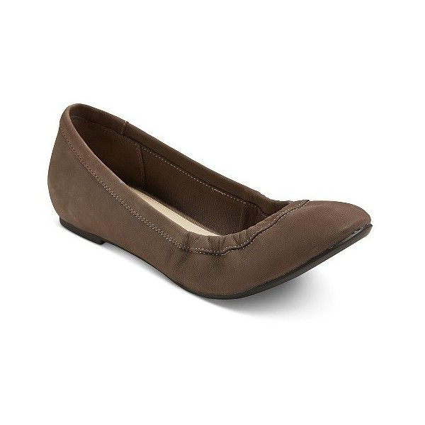 Women's Genuine  Emma Leather Ballet Flats ($40) ❤ liked on Polyvore featuring shoes, flats, silver, ballet pumps, leather flats, skimmer flats, leather shoes and pattern flats