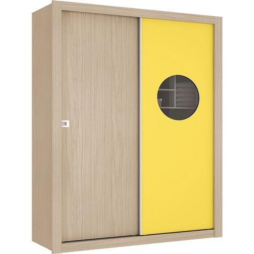 Guarda-roupa Henn Selfie com 2 Portas – Fendi/Amarelo