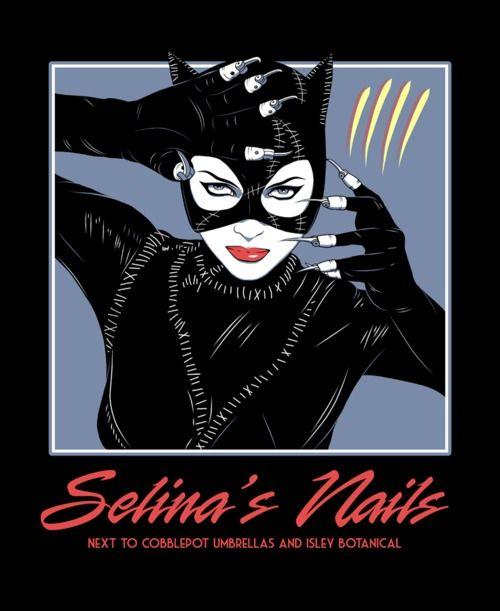 catwoman: Nails Salons, Hurts People, Selina Nails, Catwoman, Comic Art, Inspiration People, Batman Artworks, Greatest Nails, Batman Fans