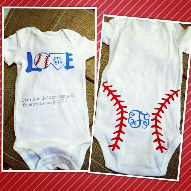 baby girl monogram baseball onesie  front  u0026 back