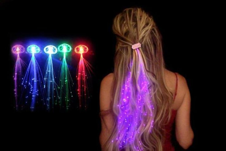 5 or 10 LED Hair Extensions