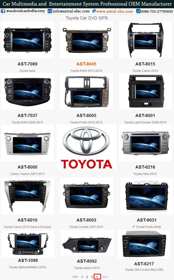 Toyota car multimedia navigation system china manufacturers, gps navigation Chinese head unit, android car stereo system #toyota #china #factory #wholesale #supplier #astral #autoradio #autostereo #indashcarDVDplayer  #carmultimedia #CarRadios #carvideo Astral Electronics Technology Co.,Ltd is a professional manufacturer in car multimedia navigation system Skype:joice8410 Website: www.astral-elec.com www.incarnavi.com Tel: 0086-755-27790830 E-mail:sales4@astral-elec.com
