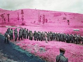 Richard Mosse - this image relates to the environment we live in with such conflict and shows how even in such a beautiful world there are such horrors that we have to cope with.