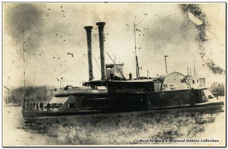 Union Navy Gunboat on Ohio River in 1861 Civil Wae--EWVAIH