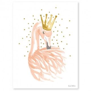 Affiche Flamand Rose