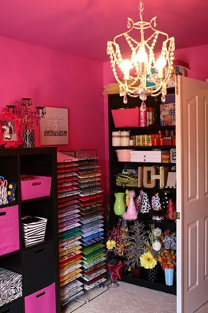 fun & wild pink zebra craft room