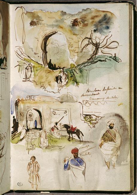 Delacroix, Album d'Afrique du Nord et d'Espagne, 1832, Musée du Louvre