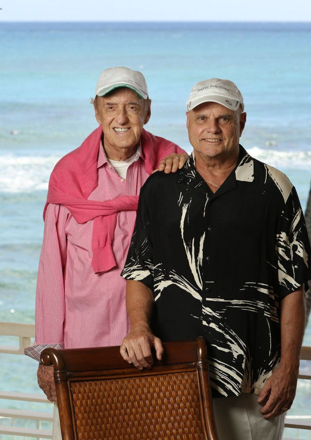 Jim Nabors and his husband Stan Cadwallader