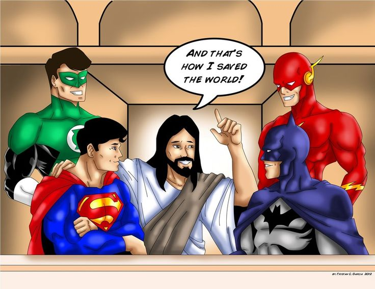 jesus_talking_to_the_dc_heroes_by_tsart-d58o58v.jpg 900×695 pixels