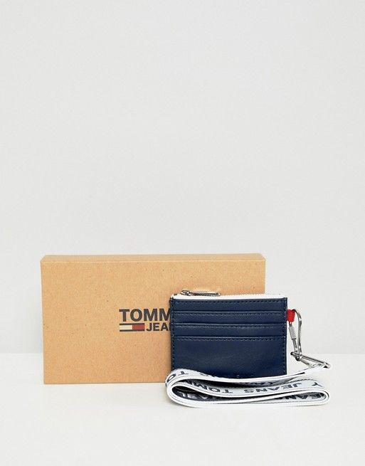 9d7f1a477 Tommy Jeans logo lanyard cardholder in navy | Dream closet | Jeans ...