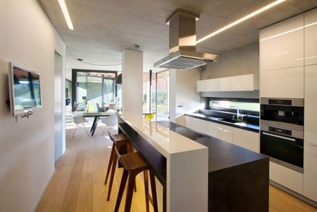 küche farben-monochrom essbereich-küchentheke eingebaute geräte, Möbel