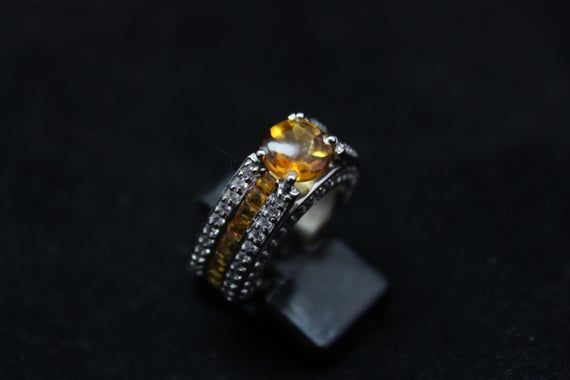 citrine stone elegant statement drop earringshigh quality 925 silvernatural yellow gemstone earringsearrings for weddings and bridal wear