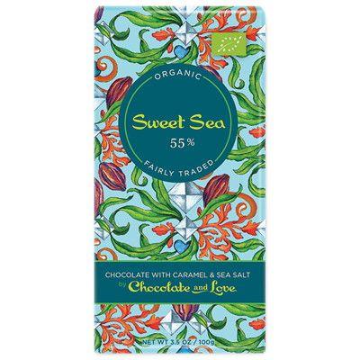 Sweet Sea från Chocolate and Love - chokladnjutning till Valentine med havssalt och karamellkrisp! Ekologisk och rättvis, såklart. 44 kr i webshop och butik.