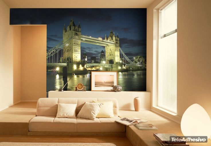 Fotomurales Big Bridge. Ideas decoración academia de inglés #decoración #academia #inglés #ideas #vinilo #TeleAdhesivo