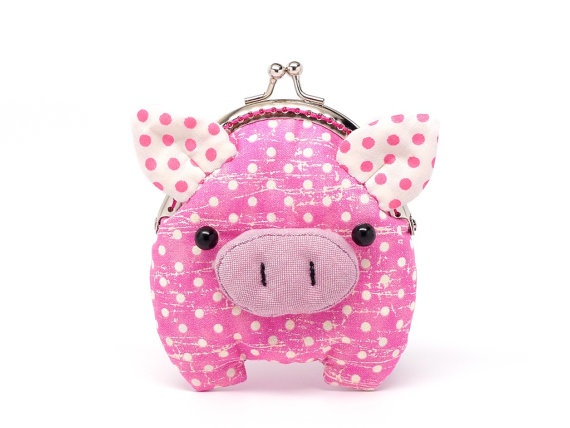pink piggy clutch purse...by misalaPiggies Coins, Coinpurse Piggies, Handmade Bags, Aww Kin, Coins Purses, Hot Pink, Coin Purses, Clutches Purses, Adorable Pink
