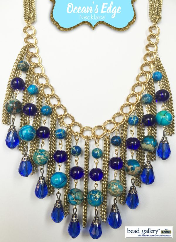 Ocean's Edge Necklace by @mykeall featuring Bead Gallery beads available at @michaelsstores #madewithmichaels