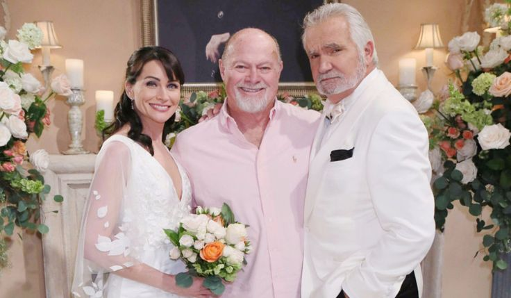Rena Sofer and John McCook with Producer Ed Scott