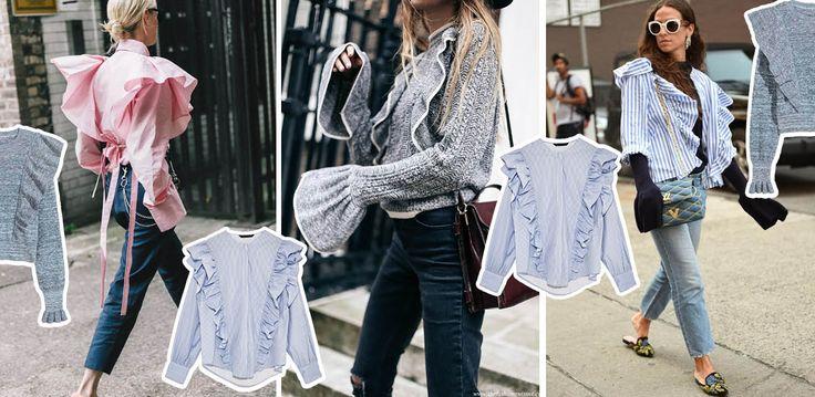 Bluzki z falbankami trend 2017
