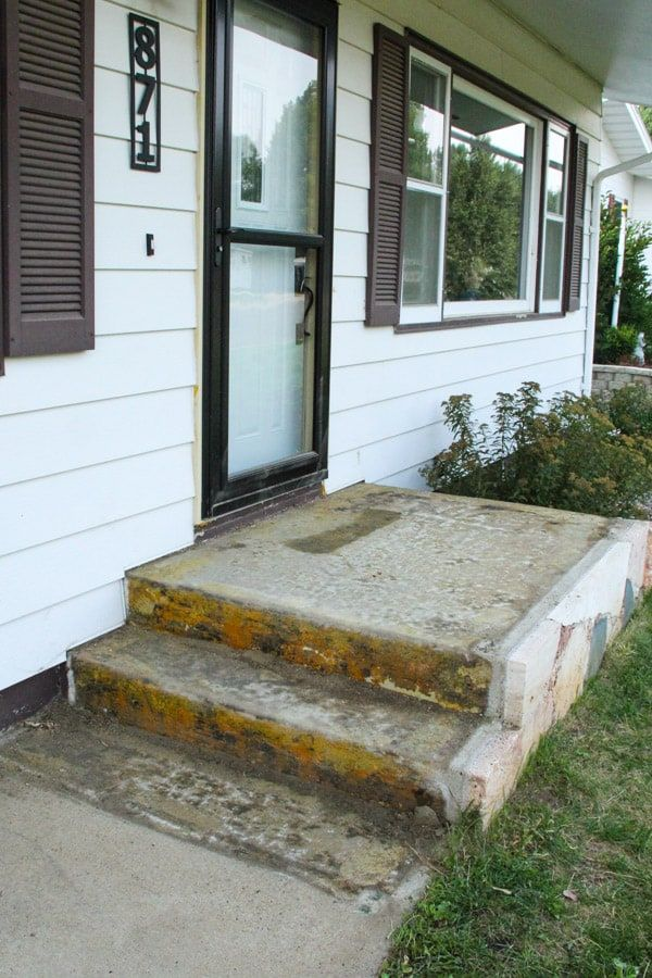An Affordable Porch Makeover Porch Makeover Painted Concrete