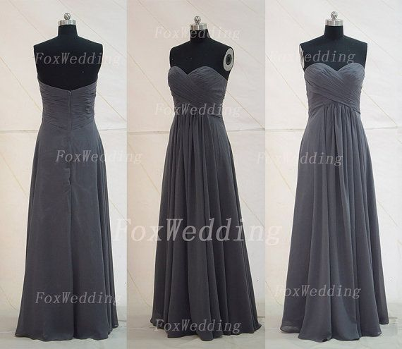 Best 25+ Charcoal grey bridesmaid dresses ideas on