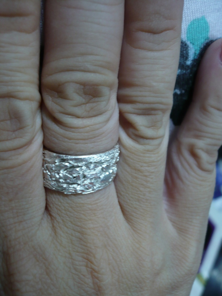 Tjandra's textured ring, created depth and complexity