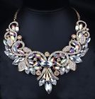 ♧‡ VINTAGE #INSPIRED CRYSTAL BIB STATEMENT #NECKLACE -RAINBOW-18ins 46cms U... http://ebay.to/2j3UN99