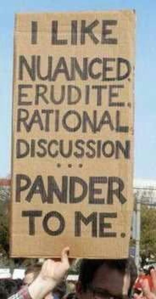 Best political sign, ever!!~I would take great joy in pandering to you