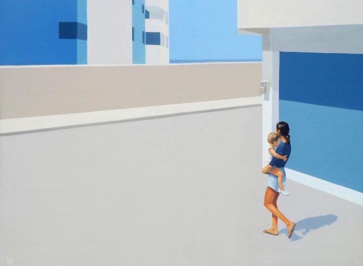 Mother And Son by Andrzej Tuznik #art #artist #painting #drawing - Beauton Art Gallery - http://beautonart.com | http://beautonart.dk
