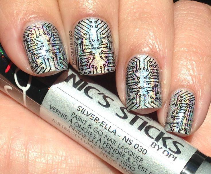 Colores de Carol: Nicole by OPI Nic's Sticks - Silver-Ella