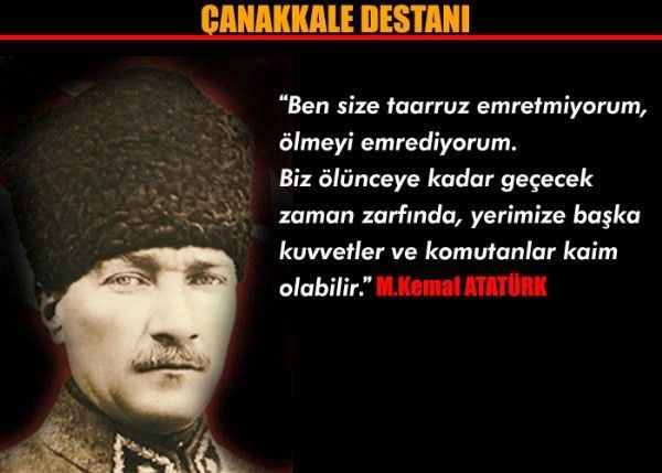 Atatürk çanakkale savaşı sözü